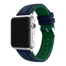 Hot!Colorblock Replacement Silicone Band Bracelet Strap For Apple Watch 38/42mm