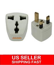 2 X Universal AU/US/EU to UK AC Wall Power Travel Plug Socket Converter Adapter