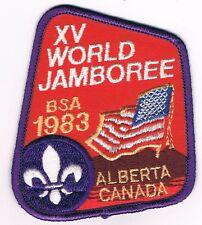 1983 Jamboree XV World Alberta Canada USA Contingent 701507