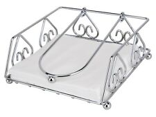 Uniware Stainless Steel Napkin Holder, Size 7.5 x 7.5 x 3 Inches, Silver