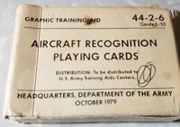Vintage Dept Of Army Aircraft Recognition Cards Graphic Training Aid