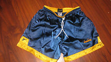 MENS VINTAGE RETRO DIADORA NYLON  NAVY BLUE SOCCER ATHLETIC SHORTS  Small