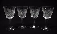 Set of 4 WATERFORD Fine Crystal ALANA Small Claret Goblets 5 7/8""