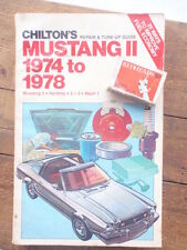 Ford Mustang 1974-78  repair & tune Up Guide