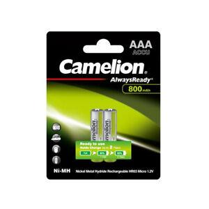 6x Camelion Batteria 1,2V 800mAh Micro AAA HR03 Nimh Ready To Use Sempre Pronto