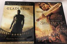 Spartacus 2004 & Gladiator Dvd Lot Crowe Visnhic Widescreen Roman Empire Slave