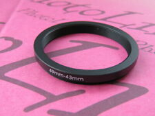 49mm to 43mm Stepping Step Down Filter Ring Adapter 49mm-43mm
