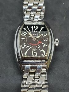 Used Franck Muller Conquistador Ladies 8005 Stainless Steel with Box and Papers