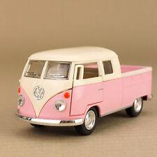 1963 Pink Volkswagen VW Kombi Twin-Cab Pickup Ute 1:34 Scale 13cm Die-Cast