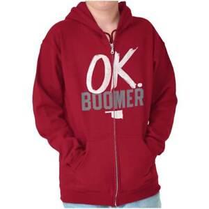 OK Boomer State of Oklahoma Settlers Sweatshirt Zip Up Hoodie Men Women