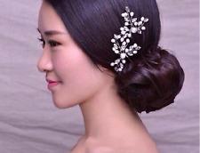New White Pearl Rhinestone Bridal Hair Accessories Hair Pin Stick for Wedding