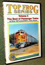 "cp013 TRAIN VIDEO DVD ""TOP FROG 3"" 50'S-60'S PASSENGER TRAINS WEST"