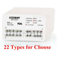 AZDENT Dental Orthodontic Metal Brackets Mini Standard Roth/MBT Slot.022 018