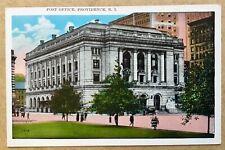 Vintage Postcard Post Office Providence RI Rhode Island