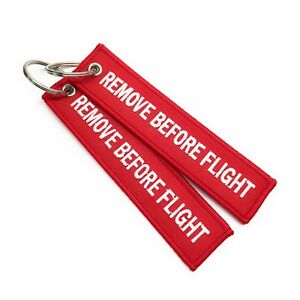 CLEARANCE - Red Remove Before Flight Keychain | Luggage Tag | Set of 2 |