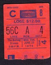 1975 Rolling Stones Eagles Rufus Chaka Khan Concert Ticket Stub MSG NY 6/25