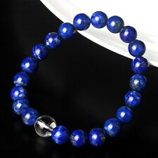Authentic Lapis Lazuli Beads With Crystal Bead Bracelet 17cm L