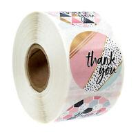 1 Zoll runde Kraft danke Aufkleber 500 Klebeetiketten für Hochzeit Geburtstag