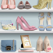 NOVELTY LADIES HANDBAGS & SHOES BOOKSHELF QUALITY WALLPAPER UGEPA L31601