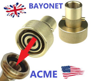 American Motorhome RV LPG Adaptor with internal thread ACME TO UK BAYONET