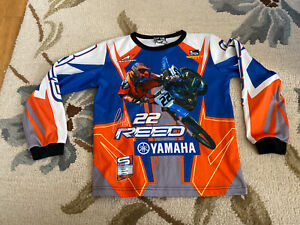 CHAD REED 22 Smooth Yamaha Scott SUPERCROSS MOTOCROSS Jersey Shirt Youth Boys