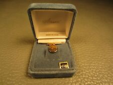 Anson Gypsy Setting Yellow Gold Plated Tie Tac or Lapel Pin