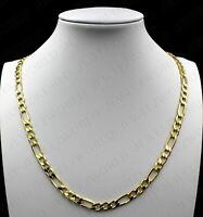 Pandahall 65.6 Feet Brass Figaro Chains Links Real 18K Gold Plated 6.2x3.3x0.5mm Unwelde Flat Oval Cable Chains Necklaces with Spool for Jewelry Making