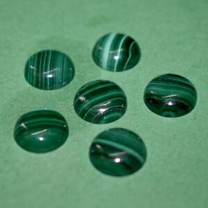 50pcs Natural Malachite 12mm Round Cabochon Loose Gemstone