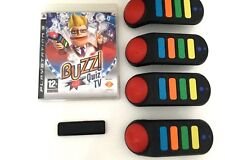 BUZZ QUIZ TV for PLAYSTATION 3 'RARE & HARD TO FIND' with FOUR WIRELESS BUZZERS