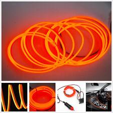 2M Orange Cold light lamp Car Atmosphere Ambient Lights Unique Decor 12V EL Wire
