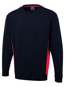 Two Tone Sweatshirt UC217 Navy/Red Small
