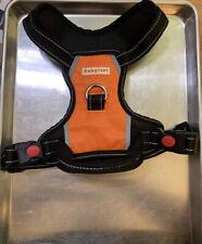 New listing Babyltrl Dog Harness Adjustable Pet Reflective Oxford Soft Vest Orange Medium