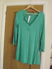 Calzedonia Ladies Italian Summer Beach Top Tunic Kaftan Emerald Green Medium