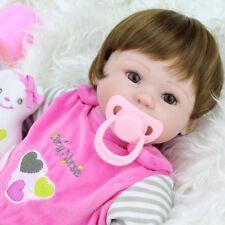 16'' Reborn Baby Dolls Handmade Lifelike Newborn Silicone Vinyl Belly Doll Gifts