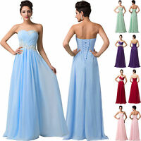 PLUS SIZE Sequins Chiffon Bridesmaids DRESS Party Cocktail Prom Evening Maxi NEW