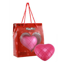 Pink Heart LOVE 3x3 Magic Cube Twist Puzzle Speed Ultra-Smooth Cube Gift Toys