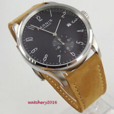 42mm parnis Black Dial SS Date Indicator Sea Gull Automatic Movement men's Watch