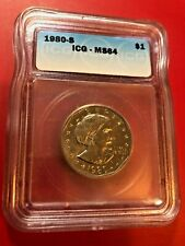 1980-S SBA$1 Susan B Anthony Dollar ICG MS 64