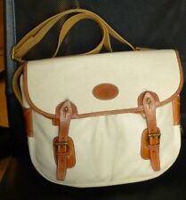 Authentic Mulberry Vintage Scotchgrain /Tan Real Leather Crossbody Messenger Bag