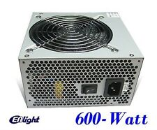 NEW Enlight 600W Intel i7/i5 Ultra Quiet Fan 2x PCIE Gaming PC ATX Power Supply
