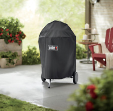 Weber Premium 22 Inch Charcoal Grill Cover Outdoor Barbecue 7150 Black