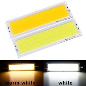 1000LM 10W COB LED Strip Light High Power Lamp Chip Warm/Cool White 12V-24V FM