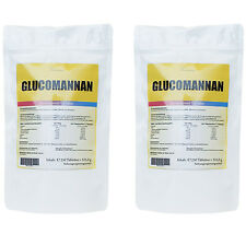 500 Kapseln GLUCOMANNAN (KONJAK) Sättigung Fatburner - Appetitzügler + Vegan +