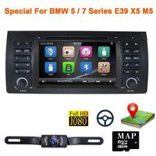 """For BMW E53 X5 E39 Car Stereo DVD Player 7"""" Radio GPS Navigation Bluetooth 1080P"""
