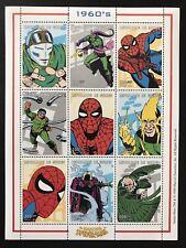 On Sale Now! Guinea Spiderman Stamp Sheet 1999 Mnh 1960S Marvel Comics Superhero