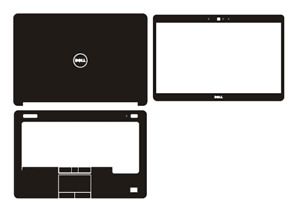 Carbon Skin Sticker Cover For DELL Latitude E5440 with pointing and fingerprint