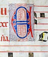 Huge deco.Antiphonary Manuscript Lf.Vellum,fancy E&2unusual N&I initials,c.1500