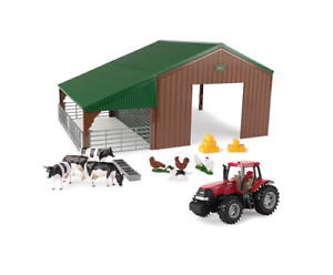 Case IH Tractor & Shed Playset 1/32 Scale Toy