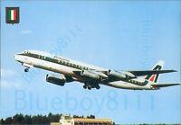Alitalia McDonnell Douglas DC8 62 FISA Printed Continental size postcard