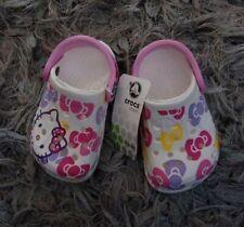 Baby Girls Hello Kitty Crocs Size 4/5 BNWT